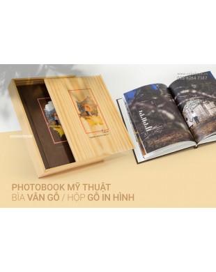 Photobook Cưới Tạp Chí Bìa Vân Gỗ